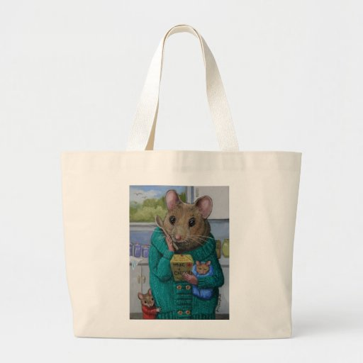 """""""Mac and Cheese"""" Mother mouse contemplates dinner Canvas Bag"""