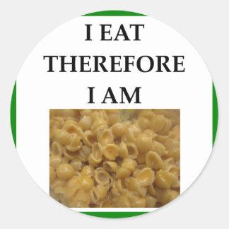 mac and cheese round sticker