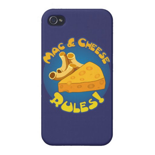 Mac & Cheese Rules Cover For iPhone 4