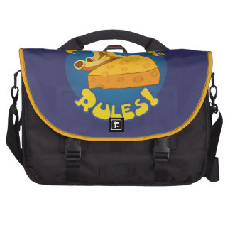 Mac & Cheese Rules Laptop Messenger Bag
