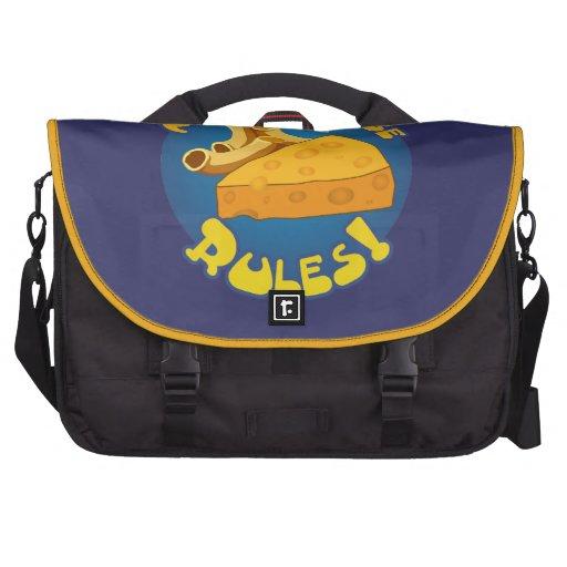 Mac & Cheese Rules Laptop Messenger Bag