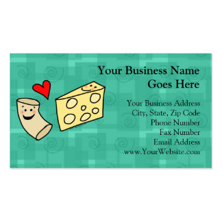 Mac Loves Cheese, Funny Cute Macaroni + Cheese Business Card