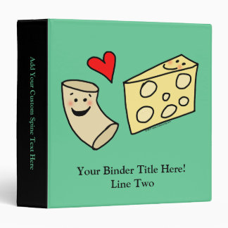 Mac Loves Cheese, Funny Cute Macaroni + Cheese Vinyl Binders