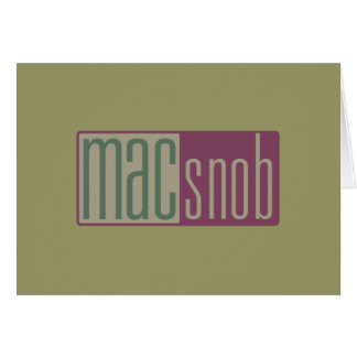 mac snob card