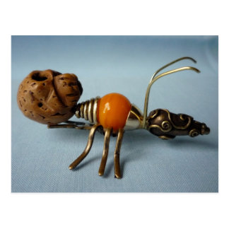 macabre ant postcard