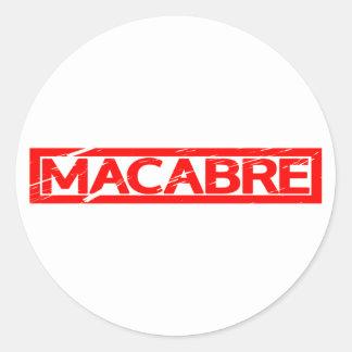 Macabre Stamp Classic Round Sticker