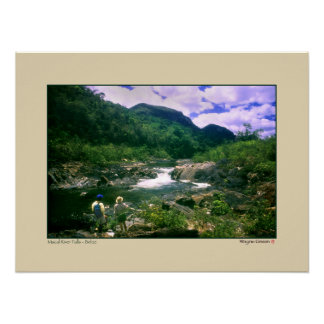 Macal River Falls - Black Rock - Belize Poster