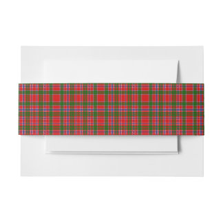 MacAlister Scottish Tartan Belly Band Invitation Belly Band