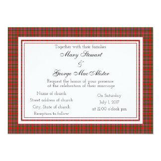 MacAlister Scottish Wedding Invitation