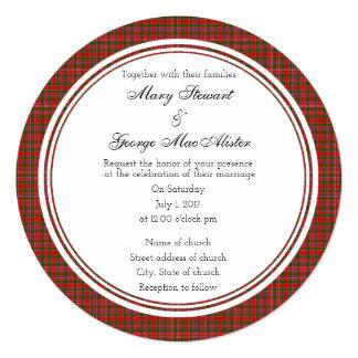 MacAlister Scottish Wedding Round Invitation