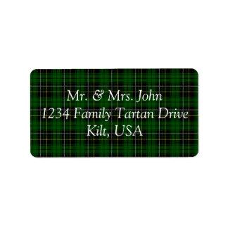 MacAlpine Tartan Label