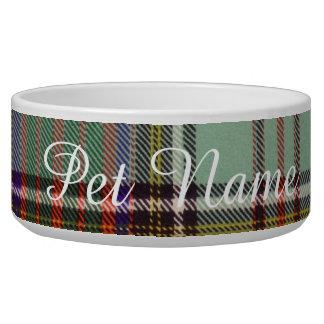 MacAndrew clan Plaid Scottish kilt tartan Pet Bowl