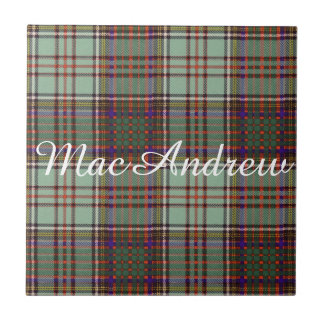 MacAndrew clan Plaid Scottish kilt tartan Tile