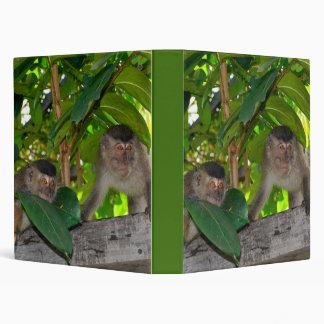 Macaque Monkeys in Rainforest 3 ring Binders