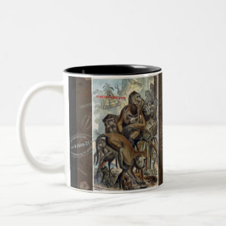 Macaques for Responsible Travel Two-Tone Coffee Mug