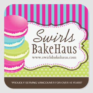Macaron and Dessert - Packaging Stickers