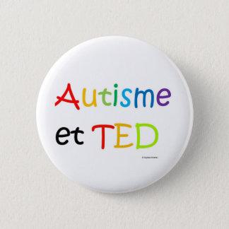 Macaron Autisme TED arc-en-ciel 2 Inch Round Button