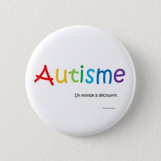 Macaron Autisme un monde à découvrir rond 2 Inch Round Button
