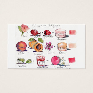 Macaron Flavours by Carol Gillott Business Card
