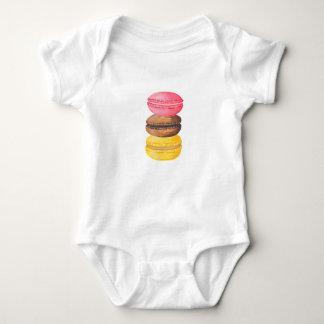 Macaron Illustration Sweets Watercolor Macaroons Baby Bodysuit