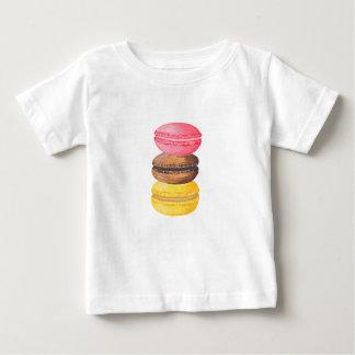 Macaron Illustration Sweets Watercolor Macaroons Baby T-Shirt