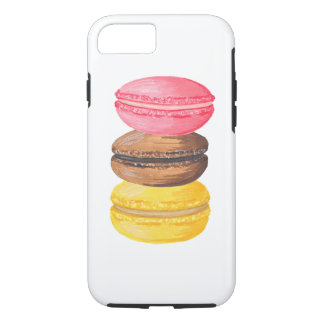 Macaron Illustration Sweets Watercolor Macaroons iPhone 8/7 Case