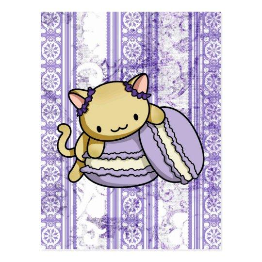 Macaron Kitty Postcard