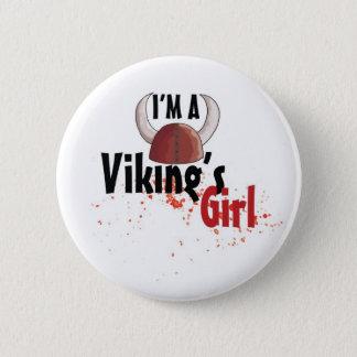 Macaron Rond 5 Cm Je suis une fille de Viking - bouton
