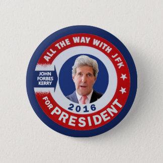 Macaron Rond 5 Cm John Kerry pour le président 2016
