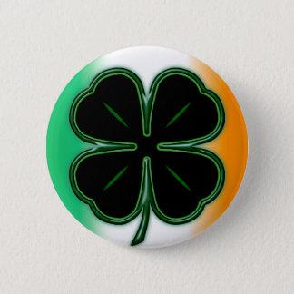 Macaron Rond 5 Cm Noir et vert sur le bouton de couleurs