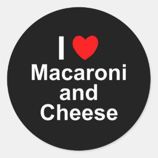 Macaroni and Cheese Classic Round Sticker