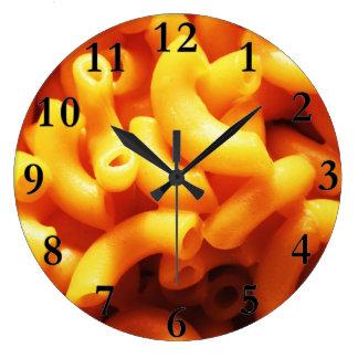 Macaroni and Cheese Round Wall Clock