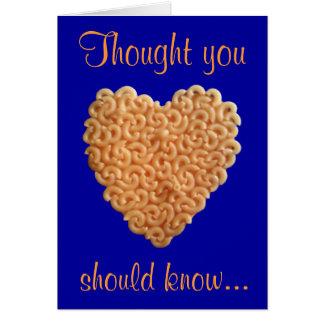 Macaroni & Cheese Love Card