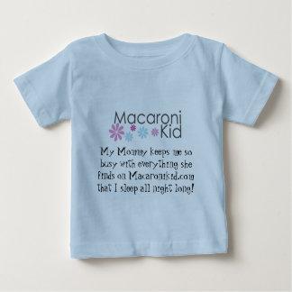 "Macaronikid ""I sleep all night long!"" Baby T-Shirt"