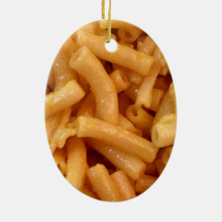 Macaroni's and cheese ceramic oval ornament