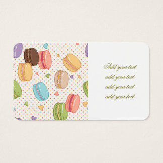 Macarons,cookies,french pastries,food hipster,tren business card