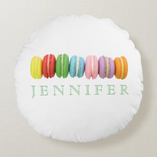 Macarons Custom Round Pillow