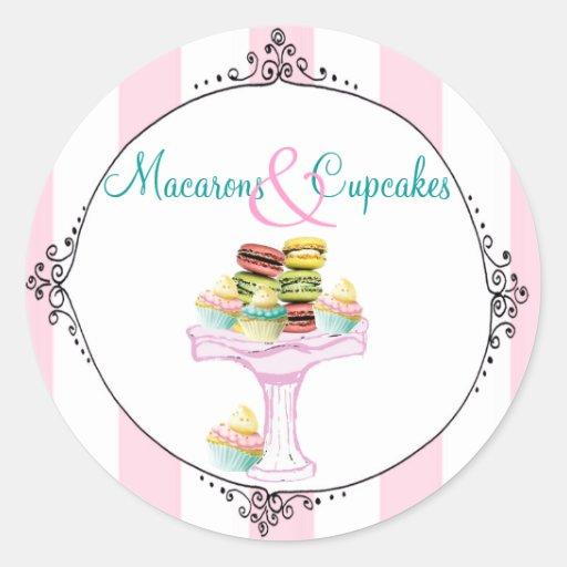 Macarons et autocollants ou joints de petits