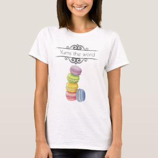 Macarons French Pastry in Pastel Watercolors T-Shirt