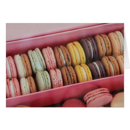 Macarons in different colours card