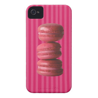 Macarons on French Stripes iPhone 4 Case-Mate Cases