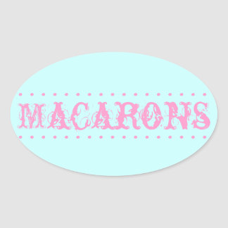 Macarons Oval Dessert Table Sticker