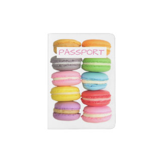Macarons Passport Holder