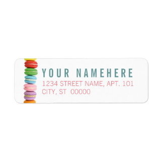 Macarons Return Address Label