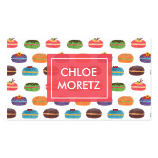 Macaroon Bakery Pack Of Standard Business Cards