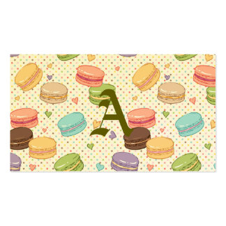 Macaroon,multi colour,polka dot,hearts,pattern,fun pack of standard business cards