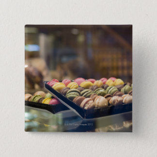 Macaroons in Show Window 2 2 Inch Square Button