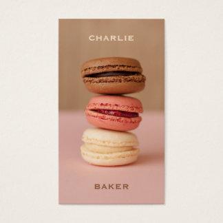 Macaroons / Macarons custom Chef business cards