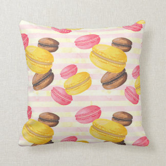 Macaroons Painting Throw Pillow