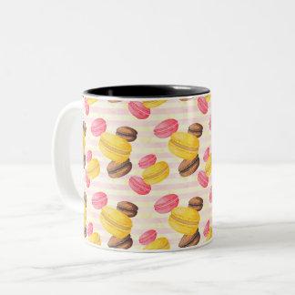 Macaroons Painting Two-Tone Coffee Mug